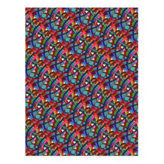 """""""Tangled"""" Tiled Image Abstract Postcard"""