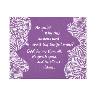 Tangled Ways (Purple) Canvas Print