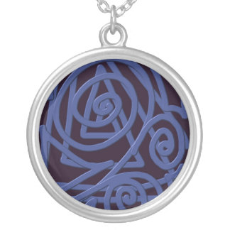TangleDoodle Black and Blue Necklace