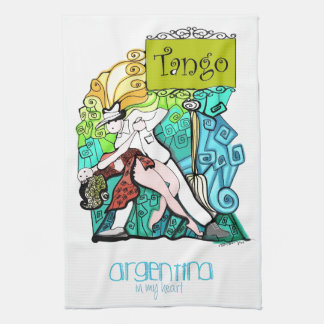 TANGO Argentina in my Heart Kitchen Towels