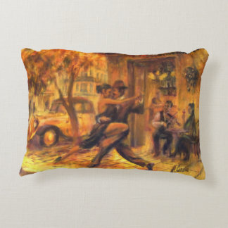 Tango AT night in Buenos Aires Decorative Pillow