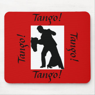 Tango! Ballroom Dance Couple Mousepad - Red