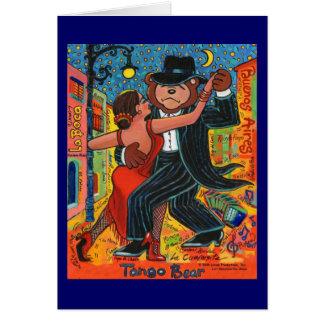 Tango Bear Greeting Card