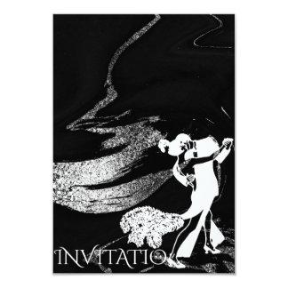 Tango Dance Art Nouveau Black Marble Card