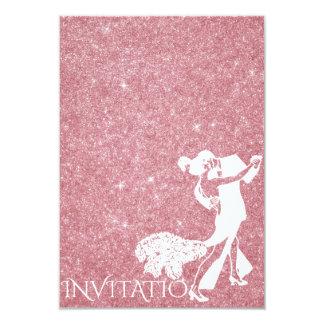 Tango Dance Art Nouveau Rose Glitter Card