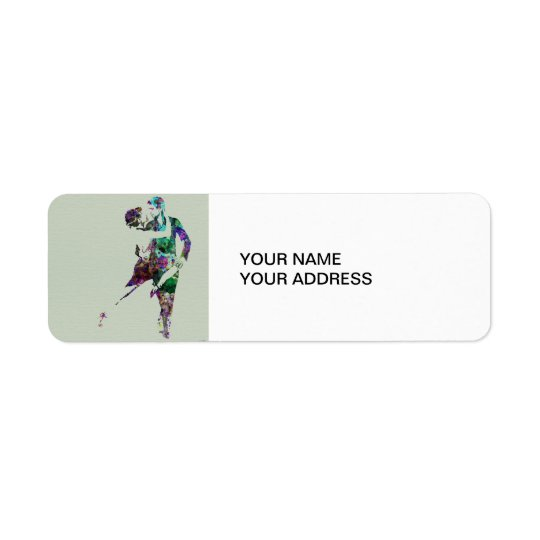 Tango Dance Return Address Label