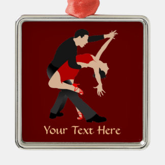 Tango Dancers (customized) Metal Ornament
