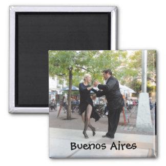 Tango Dancers in Plaza Dorrego Magnet