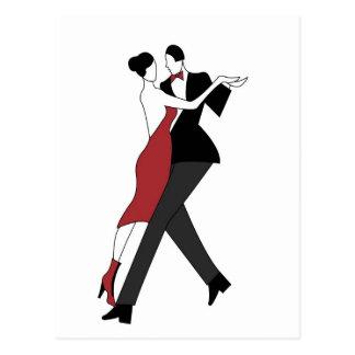 tango dancers postcard