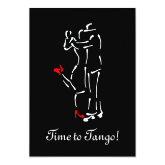 Tango Dancers (Red Shoes) with Customizable Text Card