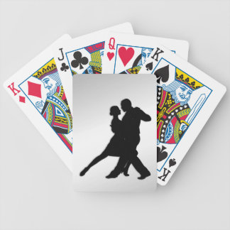 Tango Dancers Silhouette Bicycle Playing Cards