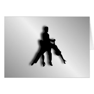 Tango Dancers Silhouette Card
