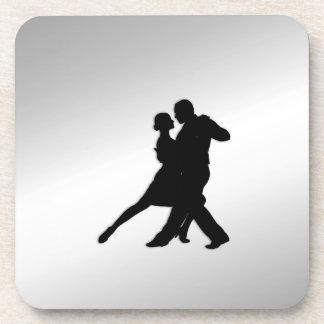Tango Dancers Silhouette Coaster