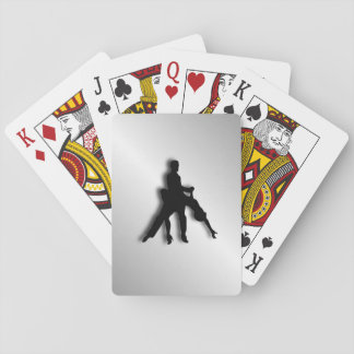 Tango Dancers Silhouette Playing Cards