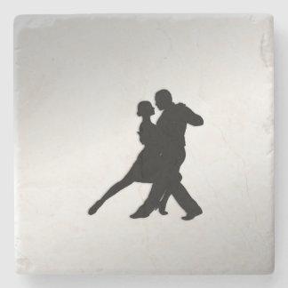 Tango Dancers Silhouette Stone Coaster