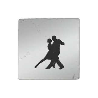 Tango Dancers Silhouette Stone Magnets