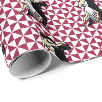 Tango Dancers Wrapping Paper