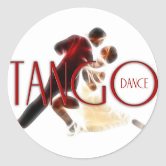 Tango Dances red Classic Round Sticker