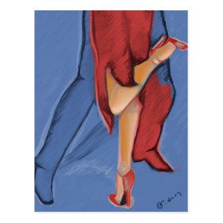 Tango Dancing Postcard