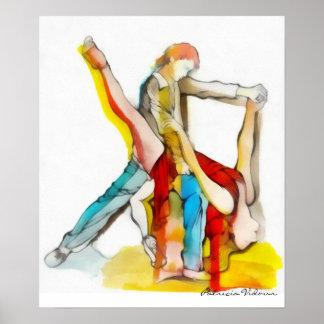 Tango Dancing Poster