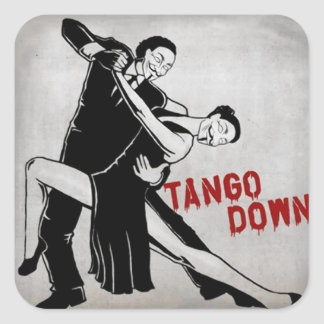 TANGO DOWN SQUARE STICKER