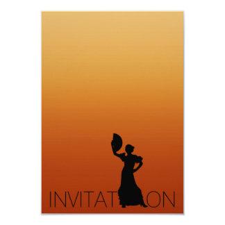 Tango Flamenco Latin Dance Party Brown Ombre Card