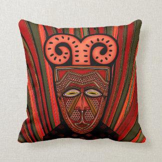 Tango Khȃmé Tribal Mask Throw Pillow