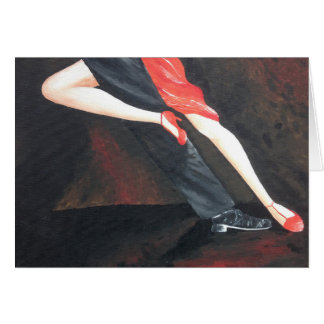 Tango Legs greetings card for any occasion!