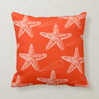 Tango Orange Seashell Pillow