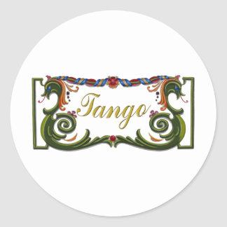 Tango Original design! Classic Round Sticker
