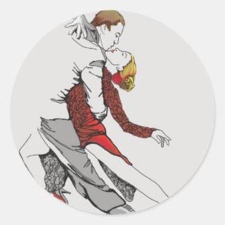 Tango Romance Classic Round Sticker