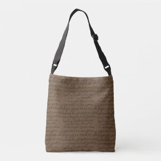 Tango Script Cross-Body Shoe Bag