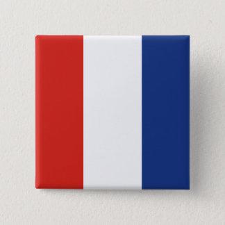 Tango (T)  International Signal Flag 2 Inch Square Button