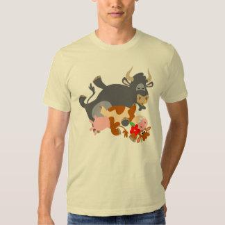 Tango ! ! (taureau et vache de bande dessinée) t-shirts