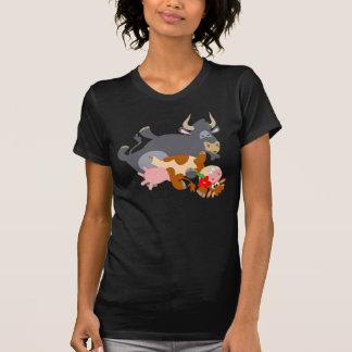 Tango ! ! (taureau et vache de bande dessinée) t shirts