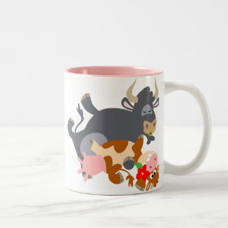 Tango ! ! (taureau et vache de bande dessinée) tas tasse