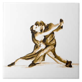 Tango-The Dance of Love-Original Art SQ Streater Ceramic Tiles