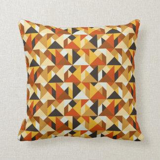 Tangram Tiles Geometric Pattern Throw Pillow
