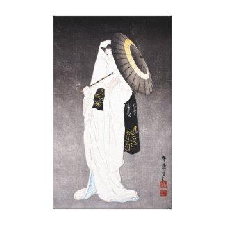 Taniguchi Kokyo Spirit of the Heron Maiden Canvas Print