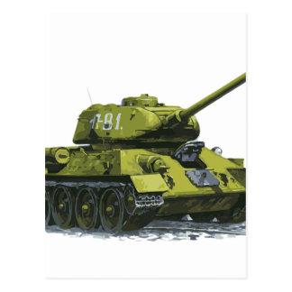 Tank Apg Russian Tank Postcard