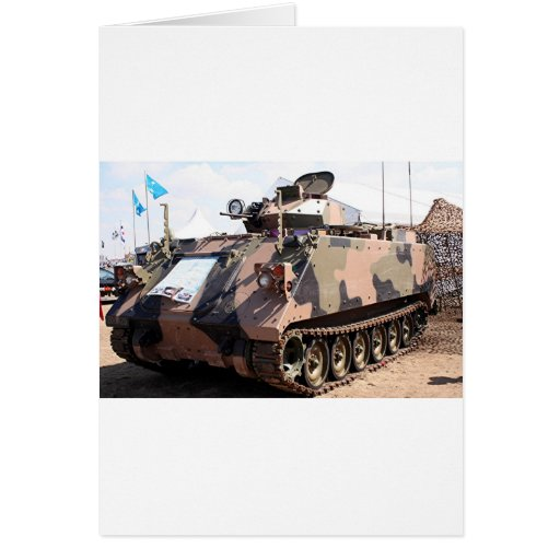 Tank: armored military vehicle greeting cards