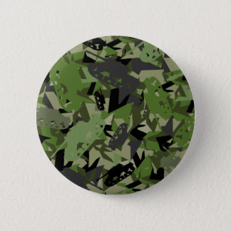 Tank Army Camouflage Badge 2 Inch Round Button