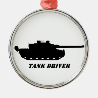 . tank driver metal ornament