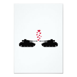 Tank love red hearts invite