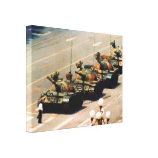 Tank Man Wrapped Canvas