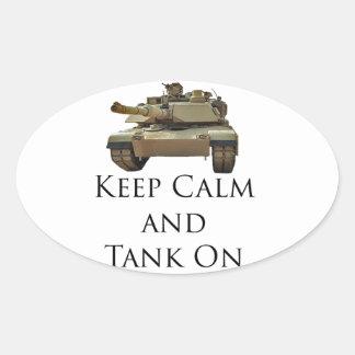 Tank ON Oval Sticker