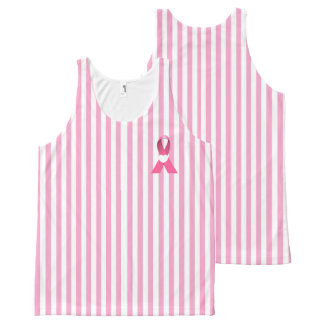 Tank top-All Over Printed -Pink Ribbon/Cancer awar