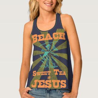 Tank Top Beach Sweet Tea & Jesus
