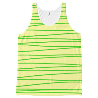 Tank Top Vest with Green Stripes