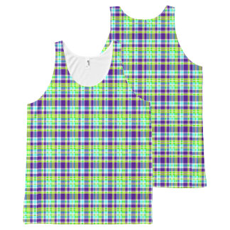 Tank Top with a Traditional Check Pattern